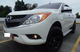 White 2015 Mazda Bt-50 for sale in Quezon City