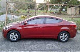 Sell Red 2013 Hyundai Elantra at 90000 km in Quezon City