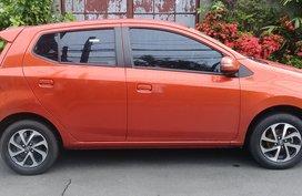 Sell Orange 2018 Toyota Wigo Hatchback in Quezon City