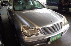 Silver Mercedes-Benz C200 2002 Automatic Gasoline for sale