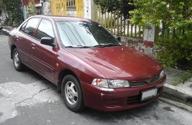 Selling Red Mitsubishi Lancer 1997 Sedan in Quezon City