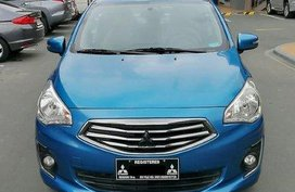 Blue Mitsubishi Mirage G4 2016 at 55000 km for sale