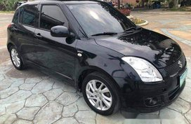 Black Suzuki Swift 2009 Manual Gasoline for sale in Talisay