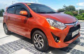 Orange Toyota Wigo 2019 Hatchback for sale in Pampanga
