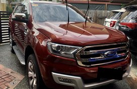 Red 2016 Ford Everest at 52000 km for sale