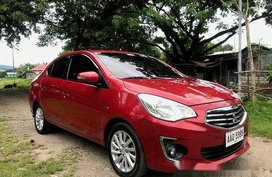 Selling Red Mitsubishi Mirage G4 2014 at 47000 km