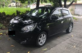 Black 2014 Mitsubishi Mirage Hatchback at 47000 km for sale