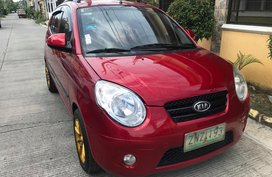 Selling Red Kia Picanto 2009 at 61000 km in Laguna