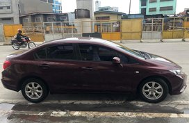 Selling Red Honda Civic 2012 Sedan in Quezon City