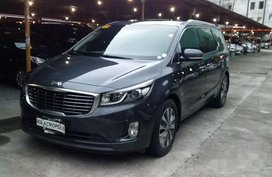 Grey Kia Grand Carnival 2015 for sale in Pasig