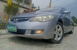 Silver Honda Civic 2007 at 80000 km for sale