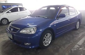 Selling Blue Honda Civic 2003 Manual Gasoline at 120000 km