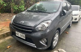 Grey Toyota Wigo 2017 for sale in Quezon City
