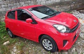 Red Toyota Wigo 2016 Manual Gasoline for sale