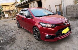 Red Toyota Vios 2016 at 50000 km for sale
