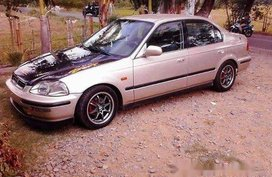 Beige Honda Civic 1997 Manual Gasoline for sale