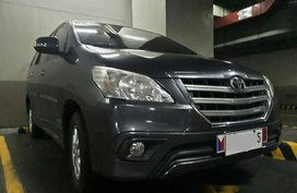 Grey Toyota Innova 2014 Manual Gasoline for sale