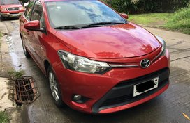 Red 2014 Toyota Vios for sale in Las Pinas