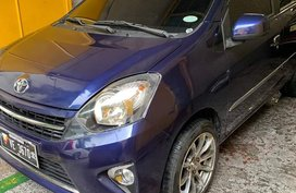 Blue 2016 Toyota Wigo at 25000 km for sale in Quezon City