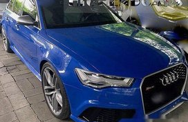 Blue Audi Rs6 2016 at 6000 km for sale