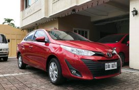 Red 2019 Toyota Vios at 8000 km for sale