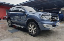 Selling Blue Ford Everest 2016 at 48000 km in Las Pinas