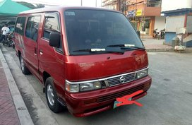 Selling Red Nissan Urvan Escapade 2007 Van at 104000 km