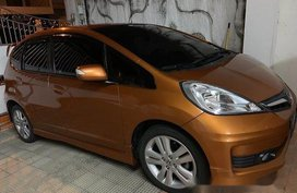 Orange Honda Jazz 2013 Automatic Gasoline for sale