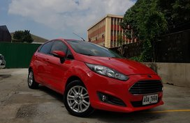 Red Ford Fiesta 2014 Hatchback for sale in Malabon
