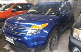 Blue Ford Explorer 2014 Automatic Gasoline for sale