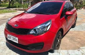 Red Kia Rio 2014 for sale in Cebu