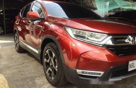 Selling Red Honda Cr-V 2018 Automatic Diesel at 12200 in Manila