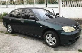 Green Honda Civic 2003 at 145000 km for sale