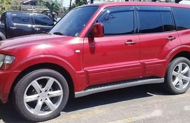 Sell Red 2006 Mitsubishi Pajero Automatic Diesel at 55000 km