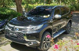 Black Mitsubishi Montero Sport 2017 at 24000 km for sale