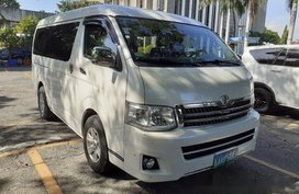 White Toyota Hiace 2013 at 66000 km for sale