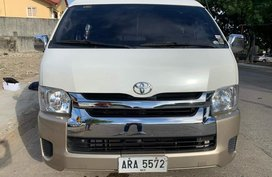 Sell White 2015 Toyota Hiace Manual Diesel in Las Pinas