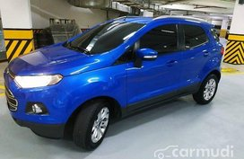 Selling Blue Ford Ecosport 2015 Automatic Gasoline at 16000 km