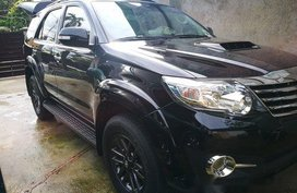 Black Toyota Fortuner 2015 at 55000 km for sale