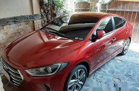 Sell Red 2016 Hyundai Elantra at 6200 km