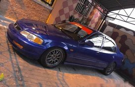 Selling Blue Honda Civic 1996 at 100000 km