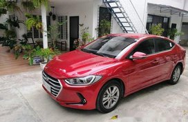 Red Hyundai Elantra 2018 Automatic Gasoline for sale