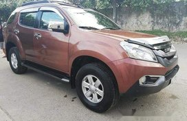 Brown Isuzu Mu-X 2015 for sale Talisay