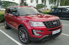 Selling Red Ford Explorer 2017 Automatic Gasoline