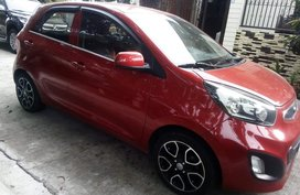 Red Kia Picanto 2012 for sale in Malolos
