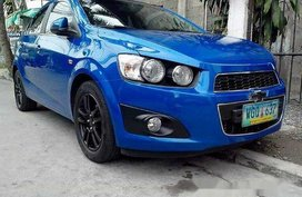 Blue Chevrolet Sonic 2013 Automatic Gasoline for sale