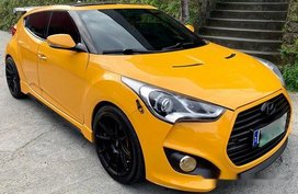 Sell Yellow 2013 Hyundai Veloster at 50000 km