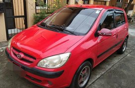 Sell Red 2007 Hyundai Getz at 140000 km