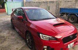 Red Subaru Wrx 2015 Manual Gasoline for sale