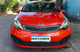 Red Kia Rio 2012 for sale in Marikina